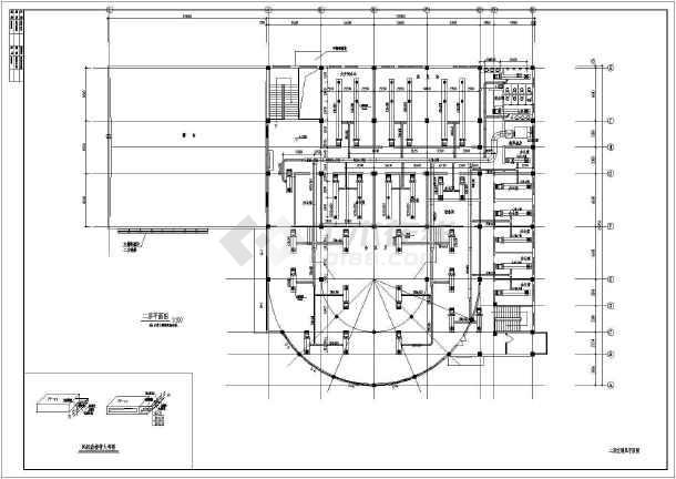 某地区大型活动中心中央空调电气设计施工图-图2