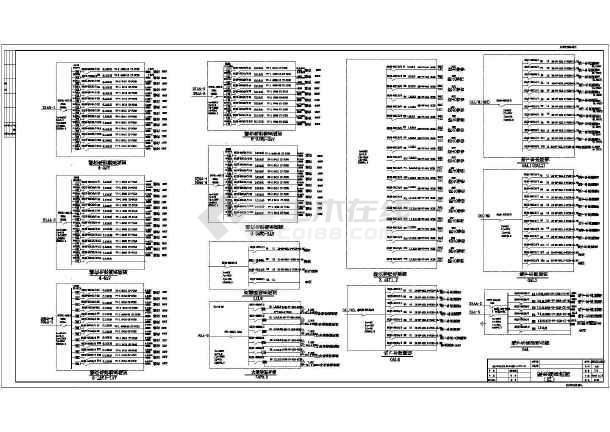 某电气大型大厦全套电气系统施工设计图纸-图3