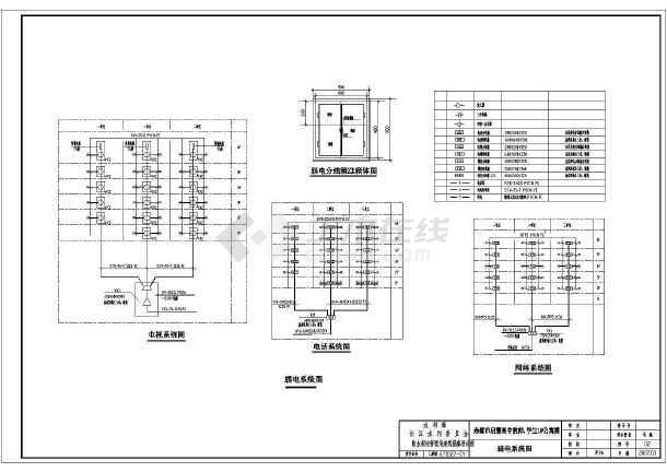 某地区大型高中学生教师公寓楼电气施工图纸(全套)-图3