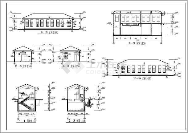 某电气小型简单的学院配电房及地下泵房建施图-图1