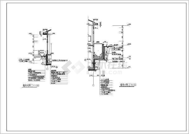 某电气小型简单的学院配电房及地下泵房建施图-图2