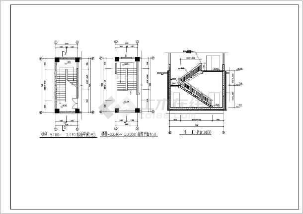 某电气小型简单的学院配电房及地下泵房建施图-图3