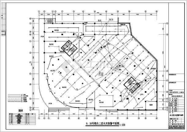 某地区大型火灾自动报警施工设计图-图2