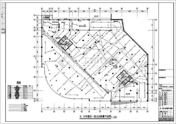 某地区大型火灾自动报警施工设计图-图3