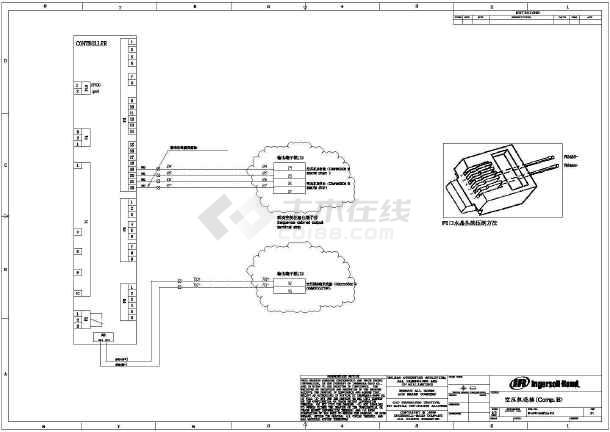 某地区小型复杂的空压机接线电气施工图(共4张)-图1