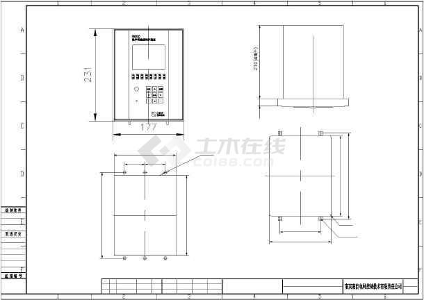 某地区南自NDX320保护小楼设计图纸在外二层面的装置楼梯农村图纸图片