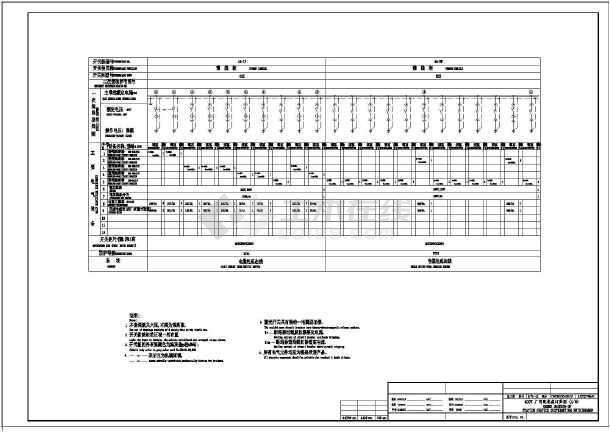 某地区某动力用400V施工配电CAD设计图纸6图纸电厂图片