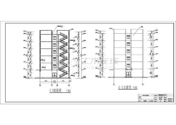 郑州市教委框架结构综合办公楼设计cad详细图纸-图2