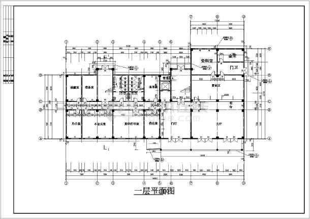 中远集团办公楼设计cad详细图纸及文字说明-图3