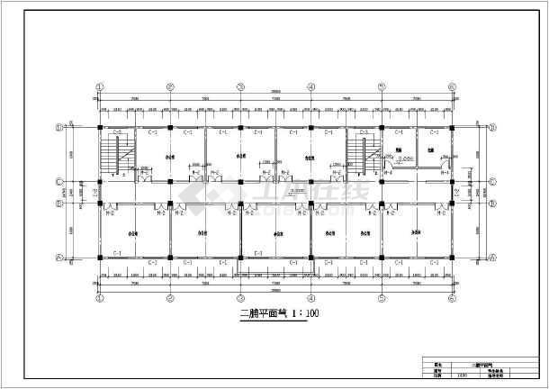 九江市新建二中综合办公楼设计cad详细图-图1