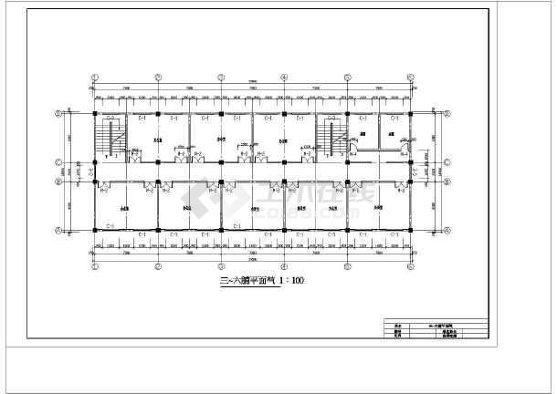 九江市新建二中综合办公楼设计cad详细图-图2