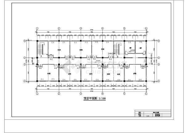 九江市新建二中综合办公楼设计cad详细图-图3