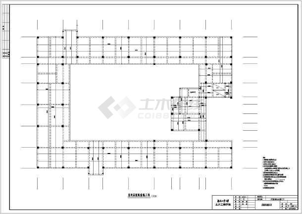 天元区商业办公楼(二)毕业设计cad详图及文字说明-图1