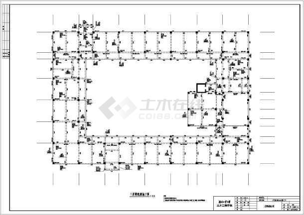 天元区商业办公楼(二)毕业设计cad详图及文字说明-图2