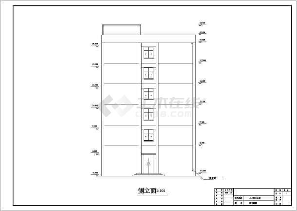 永州某综合办公楼框架结构设计cad详图及文字说明-图2