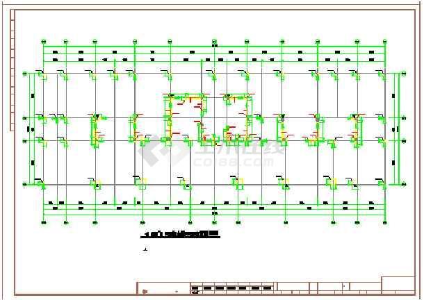 结构酒店结构施工图,其内容包括剪力墙平面布置图和层梁配筋图等图纸