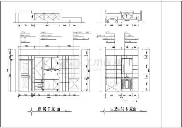 某地商品房建筑施工图纸 (标注详细)