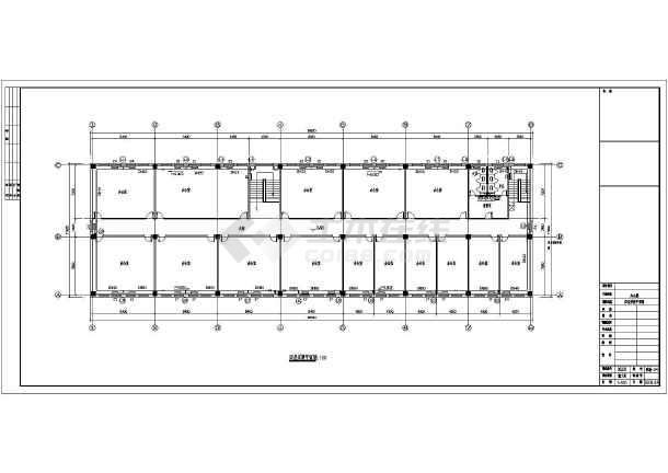 办公楼采暖设计施工图纸,内容包括:一层采暖平面图,二,三层采暖平面图