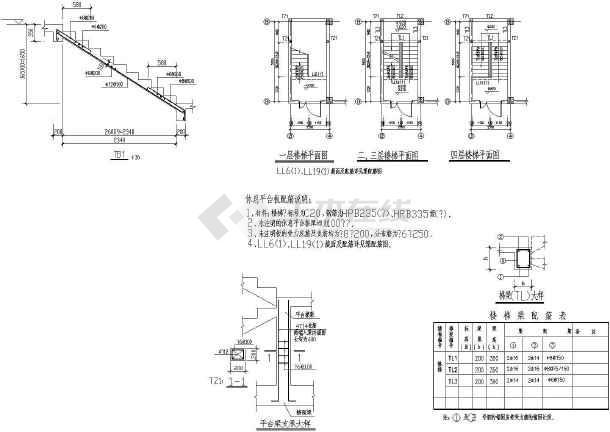 异形柱整套完整钢结构平面施工详图