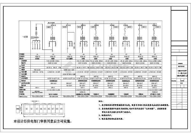 某地天骄小区供配电设计cad详图-图1