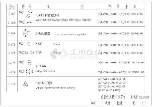 供配电设计常用电气cad符号大全-图1