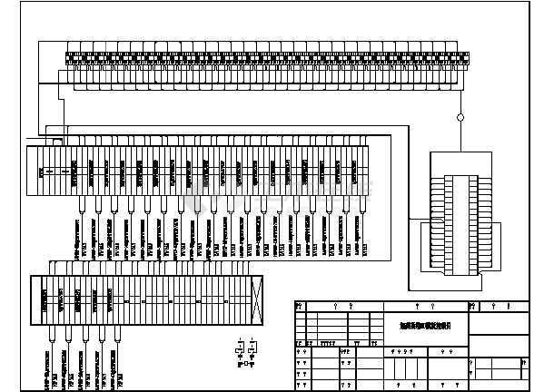 plc控制柜电气设计图纸 共5张