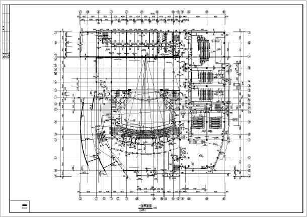 某影剧院建筑施工图纸(标注详细)