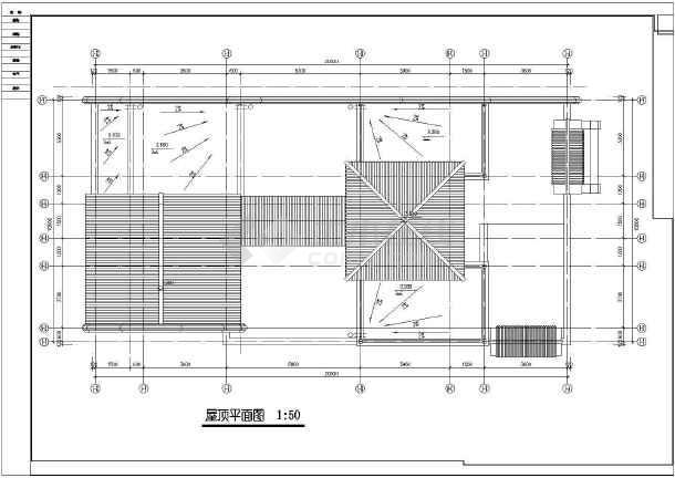 北方四合院建筑带效果图的完整cad图纸