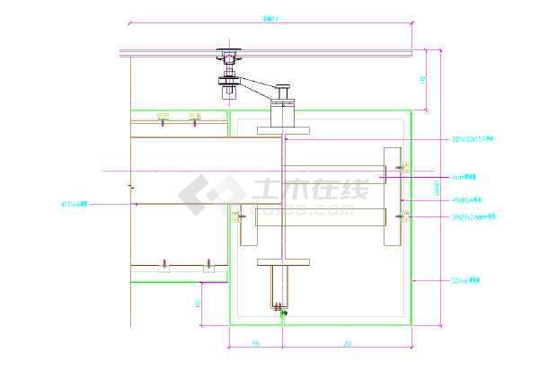 某幕墙雨棚节点建筑设计施工方案cad
