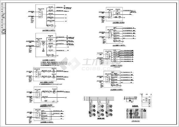 十一层住宅楼电气火灾v电气CAD施工图cad直角到图片