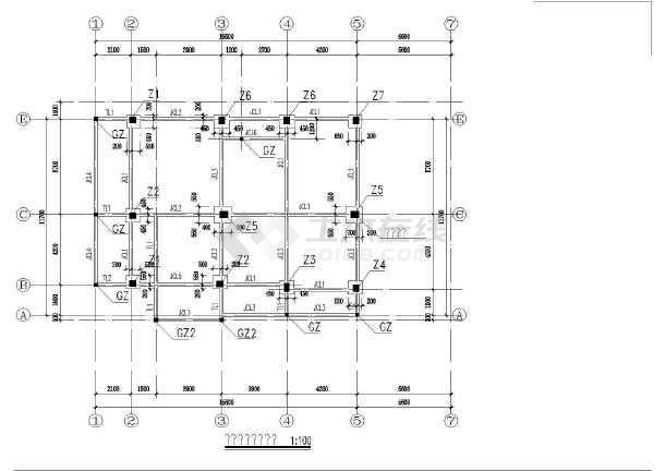 错层别墅建筑结构施工设计全套cad图纸