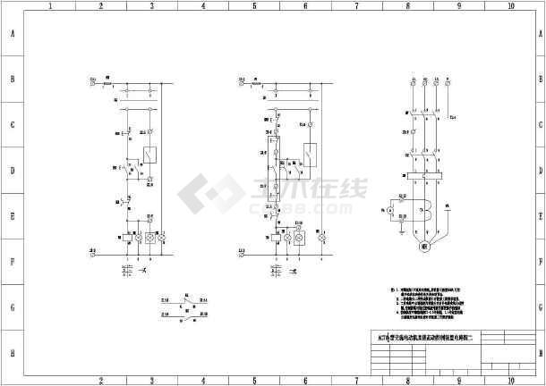 电动机控制电路图纸包括多各型号电机图片