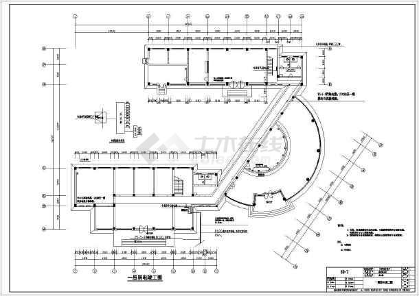 某地区地税局办公楼空调竣工施工CAD设计电气图纸图纸010FC图片