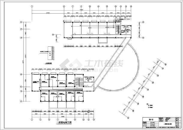 某地区地税局办公楼电气竣工施工CAD设计图纸辛威奈4000图纸哪里型图片