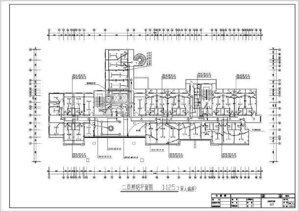 医院住院楼电气施工设计CAD方案图-图1