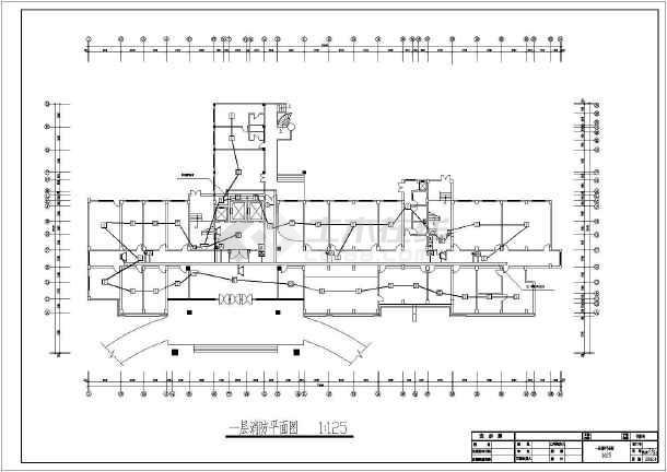 医院住院楼电气施工设计CAD方案图-图2