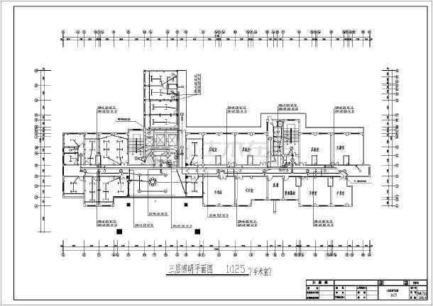 医院住院楼电气施工设计CAD方案图-图3