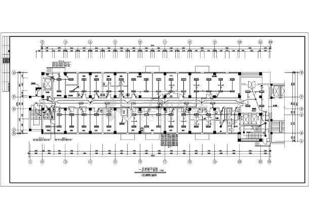 医院住院部照明设计施工CAD图纸-图1