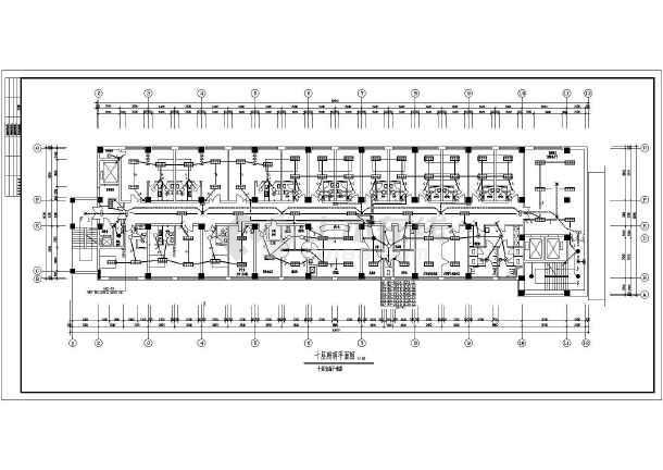 医院住院部照明设计施工CAD图纸-图3