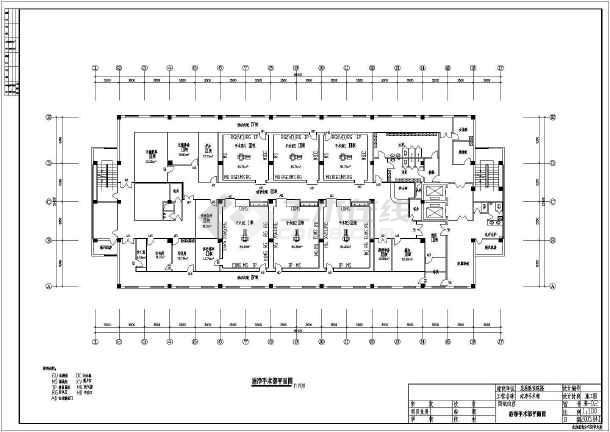 医院洁净手术部设计施工CAD全套图纸-图2