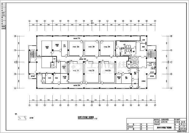 医院洁净手术部设计施工CAD全套图纸-图3