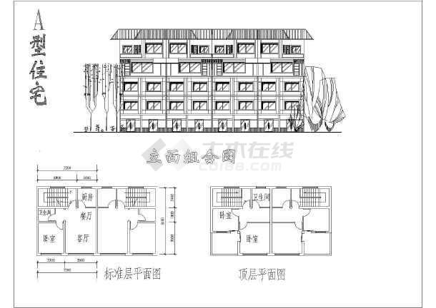 建筑单体设计施工CAD规划方案图-图3