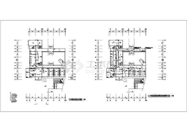 医院门诊楼强弱电设计CAD施工图-图2