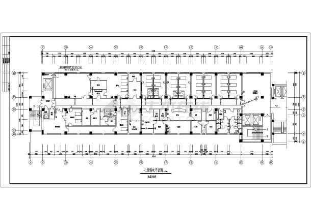 医院住院部弱电设计施工CAD方案图-图1