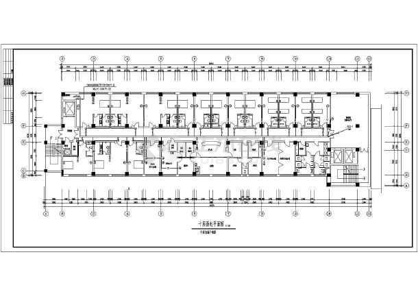 医院住院部弱电设计施工CAD方案图-图2