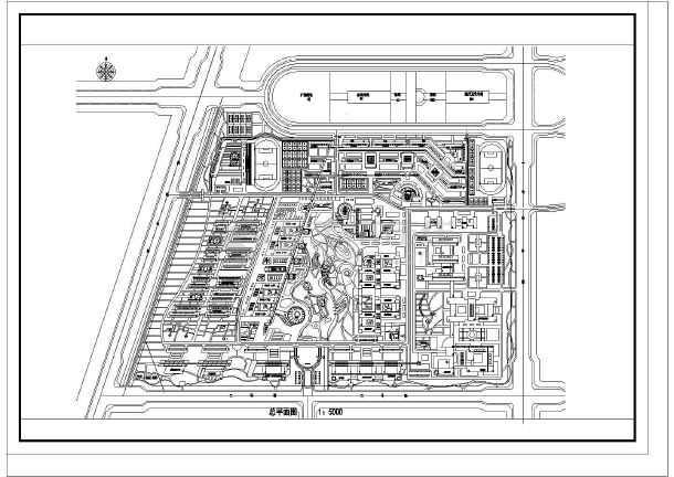 某大学规划投标方案设计cad图纸