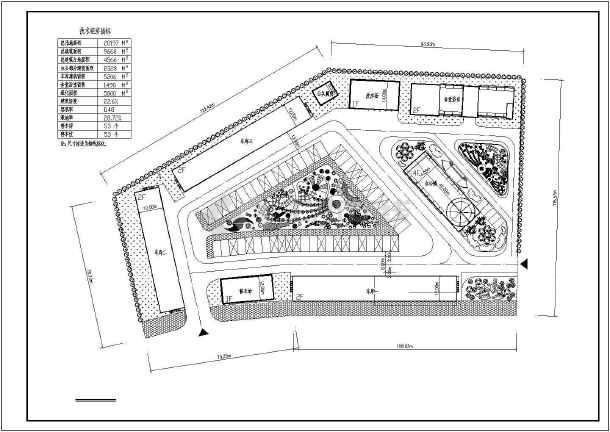 某垃圾中转站室外停车场总图设计cad方案图片1