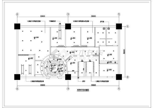 某地区美容院建筑设计装修cad施工图