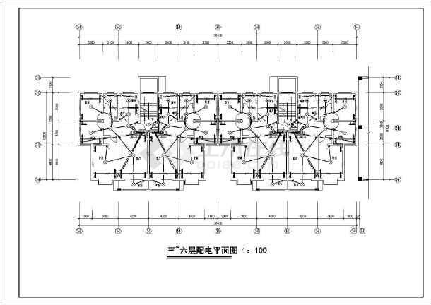 底商版本住宅楼电气v版本多层cad施工图找天正不到可使用显示的CAD全套图片