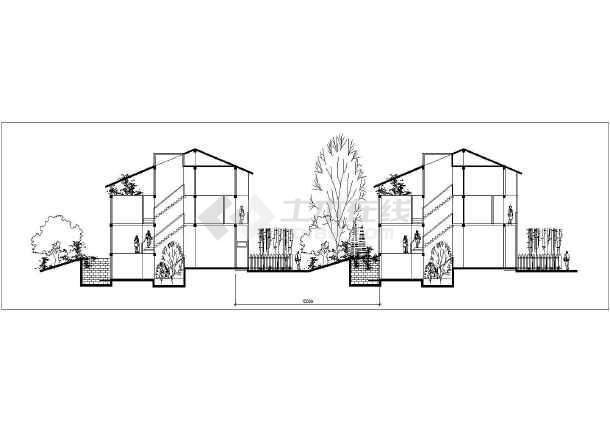 某地创意三期别墅区规划及单体设计方案建筑图